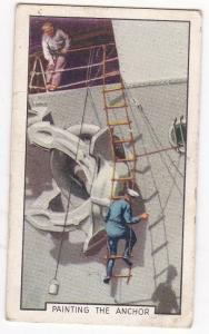 Cigarette Cards Gallaher Park Drive THE NAVY No 3 Painting the Anchor