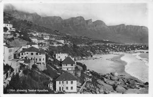 South Africa, Western Cape, Cape Town, Clifton, Twelve Apostles, Real Photo 1939