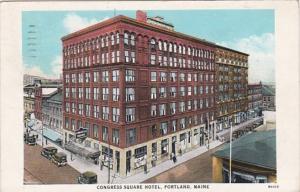 Maine Portland Congress Square Hotel 1944 Curteich
