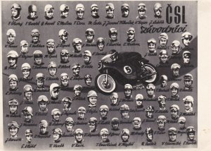 Photograph ; 5 by 7 , CLS [Czech Republic] Motorcycle Racers , 30-40s