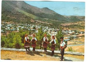 Greece, Rhodes, Embona country girls, 1986 used Postcard