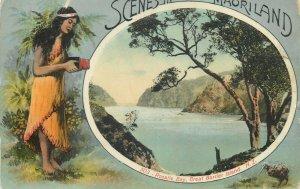 Scenes in Maoriland - Rosalie Bay Great Barrier Island New Zealand maori type