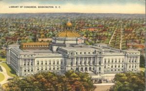 The Library Of Congress, Washington, DC - pm 1944 - Linen