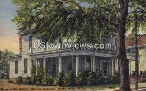 Home of Kay Kyser in Rocky Mount, North Carolina