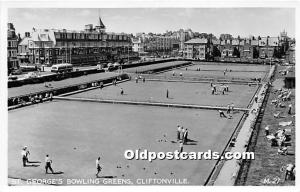 Old Vintage Lawn Bowling Postcard Post Card St George's Bowling Greens C...