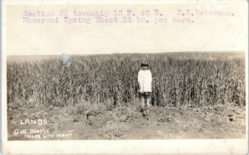 RPPC MILES CITY , MT Montana   REAL ESTATE LAND PROMO    c1910s    Postcard