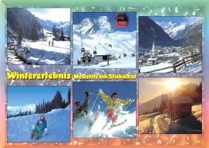 Wintergruesse aus Neustift im Stubaital Tirol Schizentrum Cable Car Mountain