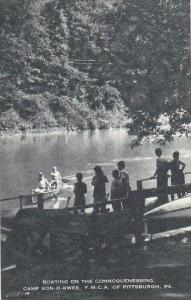 Pennsylvania Pittsburgh Boating On The Connoquenessing Camp Kon O Kwee Y M C ...