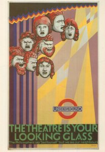 The Theatre Is Your Looking Glass 1927 Poster Advert Postcard