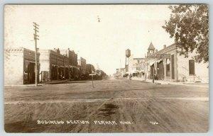 Perham Minnesota~Main Street~State Bank~Lux~Post Office~Water Tower~1914 RPPC