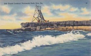 Life Guard Lookout, Peninsula Park, Erie, Pennsylvania, 1930-1940s