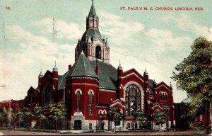 Nebraska Lincoln St Paul's Methodist Episcopal Church 1908