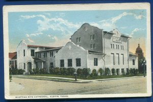 Austin Texas tx Scottish Rite Cathedral old postcard