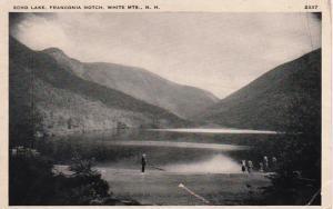 New Hampshire White Mountains Franconia Notch Echo Lake 1938
