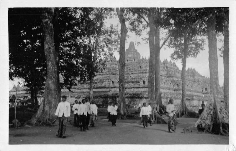 Java Indonesia Borobudur Real Photo Vintage Postcard JA4741504
