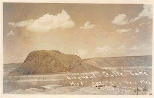 RPPC ELEPHANT BUTTE LAKE Hot Springs, NM c1940s Vintage Photo Postcard
