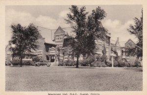 GUELPH, Ontario, Canada, 10-30s; Mcdonald Hall, O.A.C.