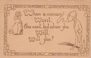 Fred Cavally Comic Verse Series When a woman won't 1912