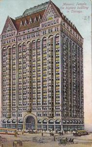 Illinois Chicago Masonic Temple 1910