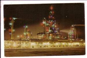 Edmonton Refinery with Night Lights , Edmonton, Alberta,