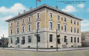 FLORENCE, South Carolina, 1930-1940s; U.S. Post Office And Court House