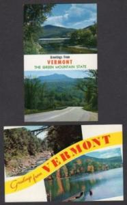 VT Lot 2 Greetings from VERMONT Postcards Lake Dunmore