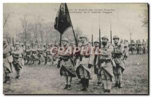 Old Postcard Army Presentation of the flag to the French troops