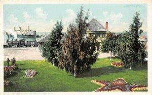 LPM06 Petoskey Railroad Station Detroit Publishing   Michigan Postcard