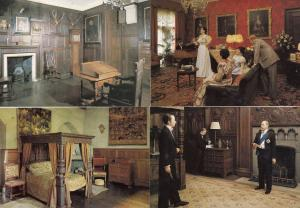 Warwick Castle Ghost Occult Room Tower Madame Tussauds 4x Postcard s