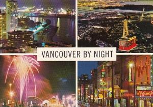 Canada Vancouver By Night Vancouver British Columbia