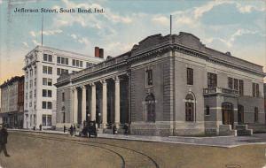 Indiana South Bend Jefferson Street 1916 Curteich
