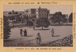 Convent Couvent Of Saint Elie Antique Postcard
