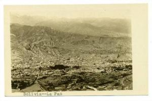 RP, View Of The City, With The Mountains Beyond, La Paz, Bolivia, 1900-10s