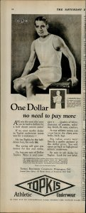 1927 Topkis Athletic Underwear One Dollar Vintage Print Ad 3923