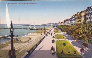 Switzerland Geneve Quai des Eaux-Vives