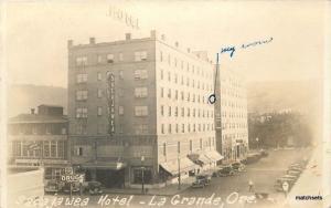 1940s Sacajawea Hotel  La Grande Hotel RPPC Real photo postcard 11057 Oregon