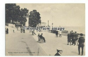 h1494 - Isle of Wight - The Royal Yacht Squadron Club House, in Cowes - Postcard