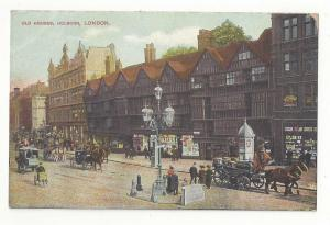 UK England London Old Houses Holborn ca 1910 Postcard