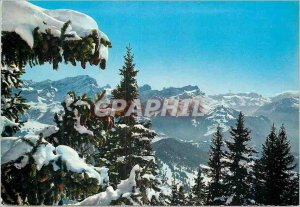 Old Postcard Panorama seen from Villars Chesieres
