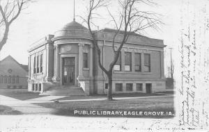Eagle Grove Iowa~Carnegie Public Library~Now Museum~Broadway Street~1907 RPPC