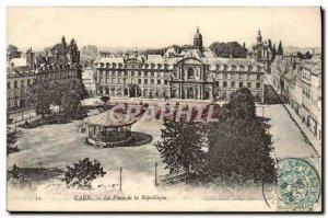Old Postcard Caen Place de la Republique