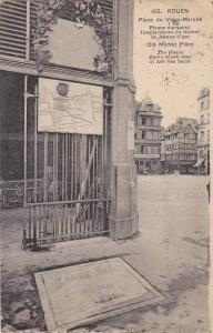 ROUEN, Place du Vieux-Marche, The Plaque shows where Jean of Arc was burnt, H...