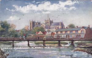RIPON, England, PU-1909; Cathedral And Alma Bridge