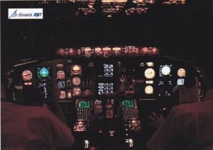 Cockpit of Boeing 757 Jet Airplane , AIR SLOVAKIA , 80-90s