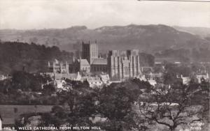 RP; WELLS Cathedral from Milton Hill, Somerset, England, United Kingdom, 1950s
