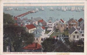 Massachusetts Cape Cod Provincetown The Harbor Looking From Town Hill 1917