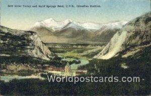 Banff Springs Hotel, CPR Row River Valley Canada Unused