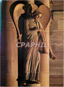 Modern Postcard Strasbourg Cathedral Pillar of Judgment the Angel announcing ...