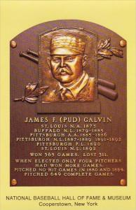 James F Pud Galvin Baseball Hall Of Fame & Museum Cooperstown New York