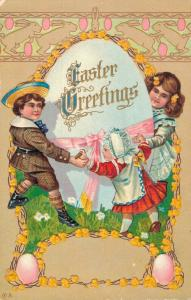 Easter Greetings Embossed Vintage Postcard 02.34